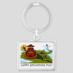 groundhogday1 Landscape Keychain