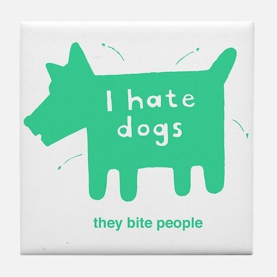 mangy hound Tile Coaster
