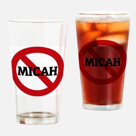 MICAH Drinking Glass