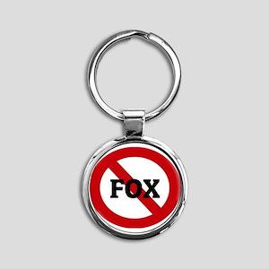 FOX Round Keychain