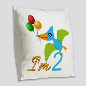 Custom Animal Birthday Burlap Throw Pillow
