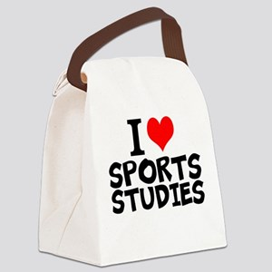 I Love Sports Studies Canvas Lunch Bag