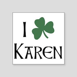 "shams__Karen_A Square Sticker 3"" x 3"""