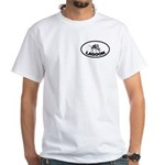 Mosquito Lagoon White T-Shirt Front/Back