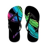 Rainbow Dragonfly Flip Flops