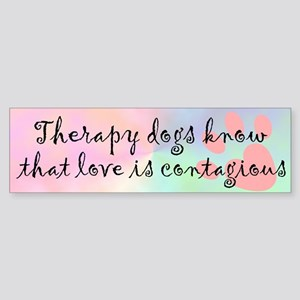 Love is Contagious Bumper Sticker