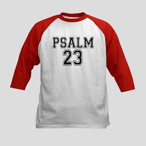 Psalm 23 Bible Verse Kids Baseball Jersey