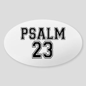 Psalm 23 Bible Verse Sticker (Oval)