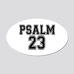 Psalm 23 Bible Verse 20x12 Oval Wall Decal