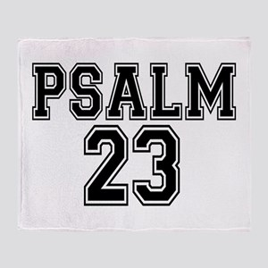 Psalm 23 Bible Verse Throw Blanket