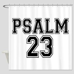 Psalm 23 Bible Verse Shower Curtain