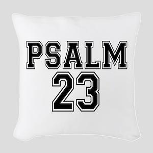 Psalm 23 Bible Verse Woven Throw Pillow