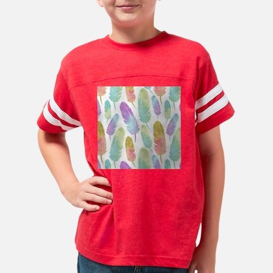 Boho Feather Pattern Watercol Youth Football Shirt