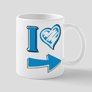 I Heart - Blue Arrow Mug