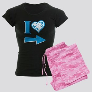 I Heart - Blue Arrow Women's Dark Pajamas