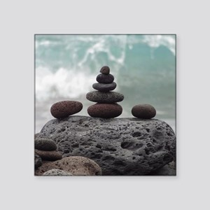"Ocean Serenity Square Sticker 3"" x 3"""