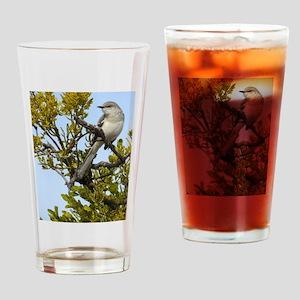 Pretty Mockingbird Drinking Glass