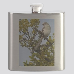 Pretty Mockingbird Flask