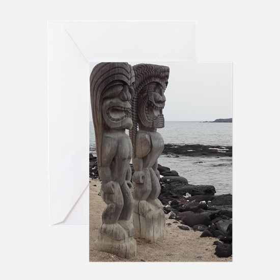 Place of Refuge Tikis Greeting Card