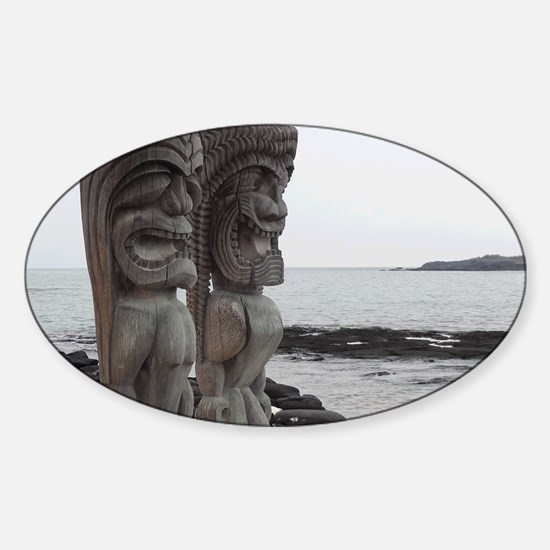 Place of Refuge Tikis Sticker (Oval)