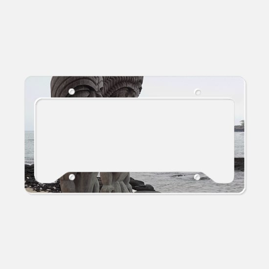 Place of Refuge Tikis License Plate Holder