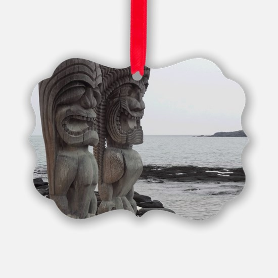 Place of Refuge Tikis Ornament