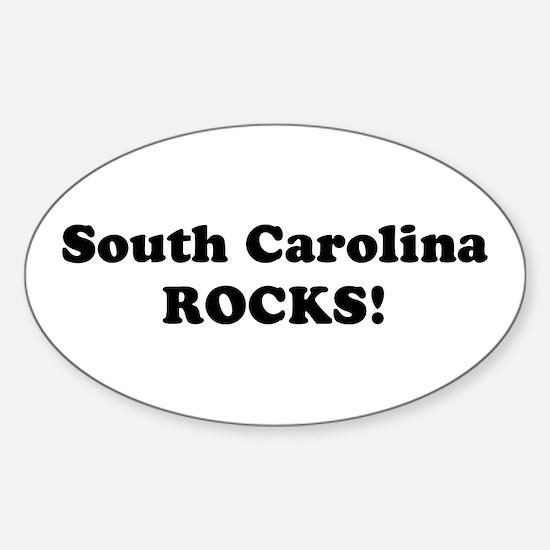 South Carolina Rocks! Oval Decal