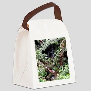 Rainforest Waterfall Canvas Lunch Bag