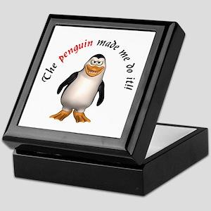 The penguin made me do it!! Keepsake Box