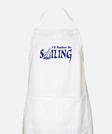 I'd Rather Be Sailing BBQ Apron