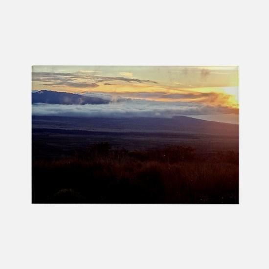 Mauna Loa Sunset Rectangle Magnet