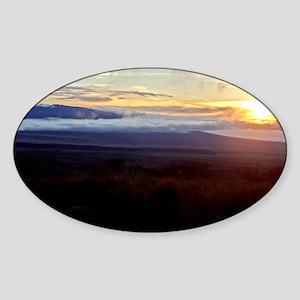 Mauna Loa Sunset Sticker (Oval)