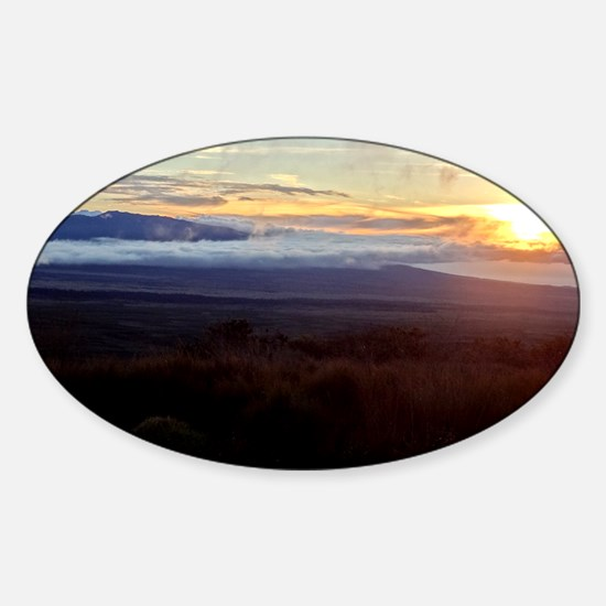 Mauna Loa Sunset Sticker (Oval)