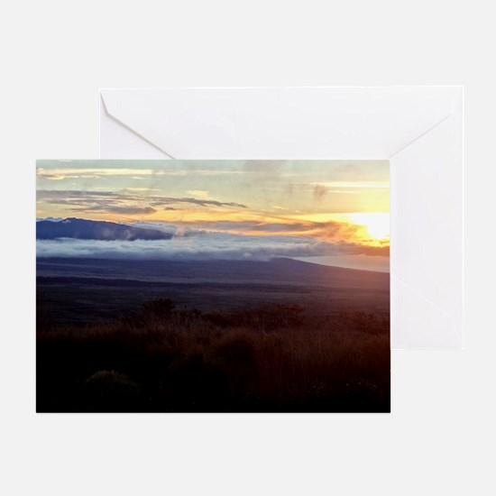 Mauna Loa Sunset Greeting Card