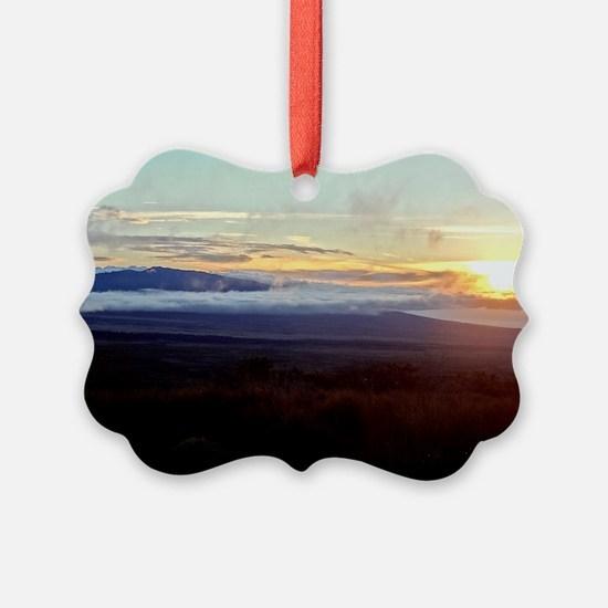 Mauna Loa Sunset Ornament