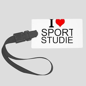 I Love Sports Studies Luggage Tag