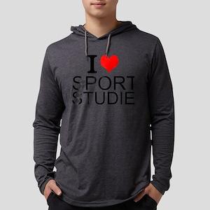 I Love Sports Studies Mens Hooded Shirt