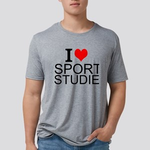 I Love Sports Studies Mens Tri-blend T-Shirt