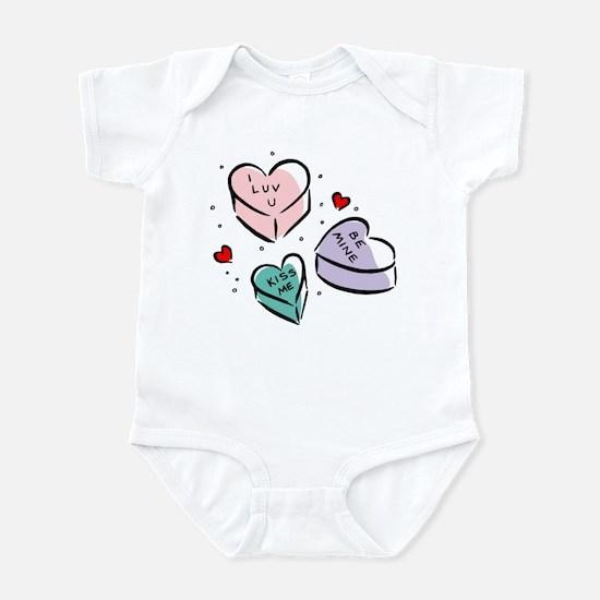 Heart Shaped Candy Infant Bodysuit