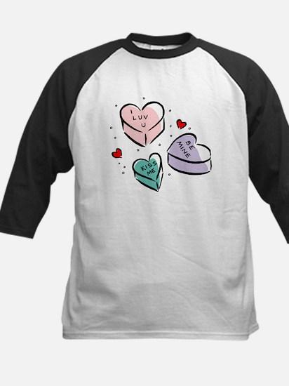 Heart Shaped Candy Kids Baseball Jersey