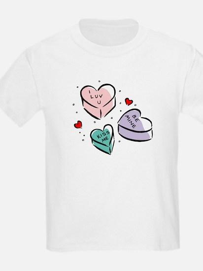 Heart Shaped Candy Kids T-Shirt