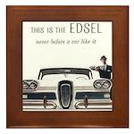 1958 Edsel Framed Tile