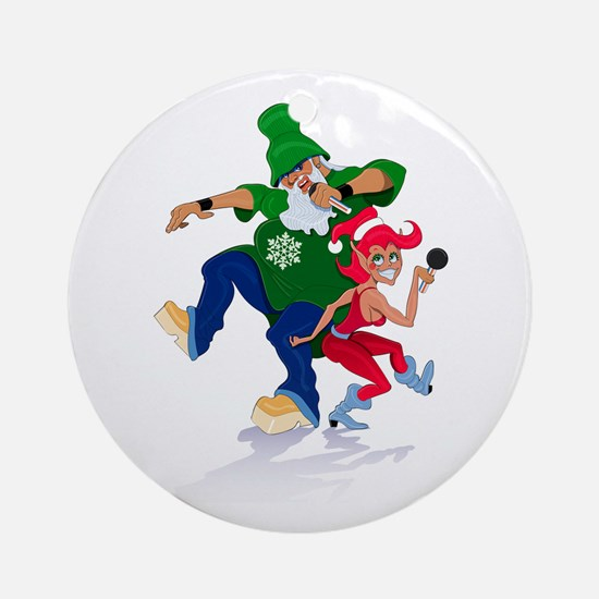 DJ Kringle Ornament (Round)