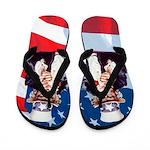 Uncle Sam and American Flag Flip Flops