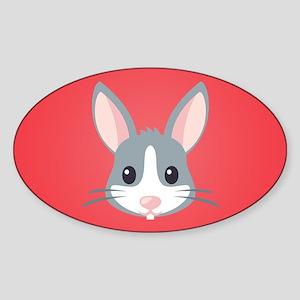 Rabbit Sticker (Oval)