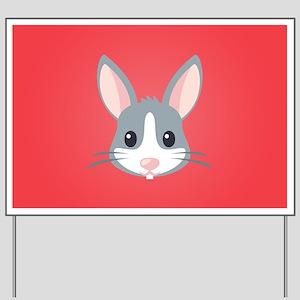 Rabbit Yard Sign