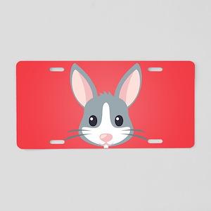 Rabbit Aluminum License Plate