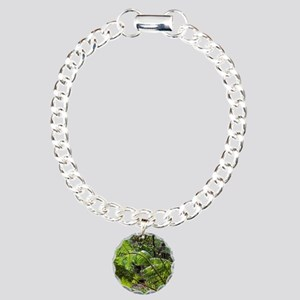 Rainforest Ferns Charm Bracelet, One Charm