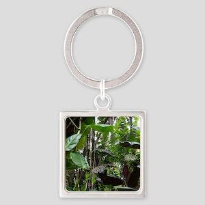 Rainforest01 Square Keychain