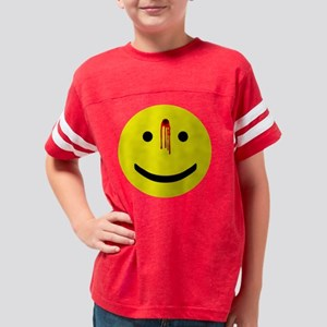3-bulletholesmiley Youth Football Shirt